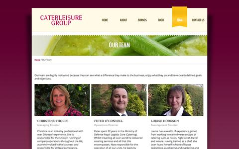 Screenshot of Team Page caterleisure.co.uk - Our Team Contract Caterers Caterleisure - captured Oct. 2, 2014