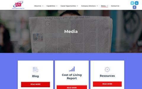 Screenshot of Press Page usdi.com - Media and Resources | USDI - captured Oct. 19, 2018