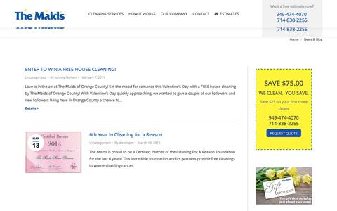 Screenshot of Blog themaidsoc.com - Maidsoc blog and news for home cleaning Orange County CA | The Maids Home Cleaning in Orange County, CA - captured July 5, 2019