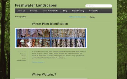 Screenshot of Blog freshwaterlandscapes.com - Updates   Freshwater Landscapes - captured Sept. 30, 2014