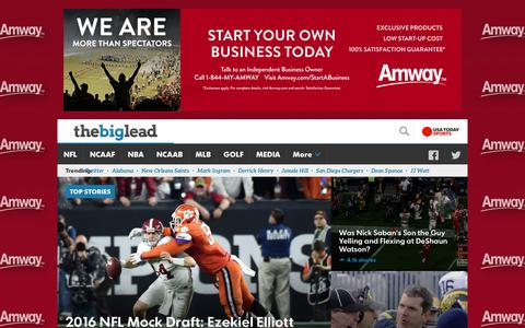 Screenshot of Home Page thebiglead.com - The Big Lead | Sports News and Media - captured Jan. 13, 2016