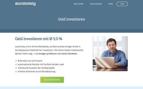 Geld investieren | Ø 5,0% Rendite erzielen » AUXMONEY