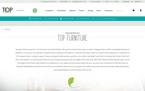 Screenshot of About Page topfurniture.co.uk - About Top Furniture's History and Growth - captured Oct. 18, 2018