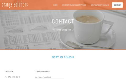 Screenshot of Contact Page orange-solutions.com - Contact | Orange Solutions - captured March 15, 2016
