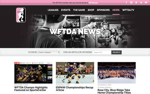 Screenshot of Press Page wftda.com - WFTDA News – WFTDA - captured Nov. 13, 2016