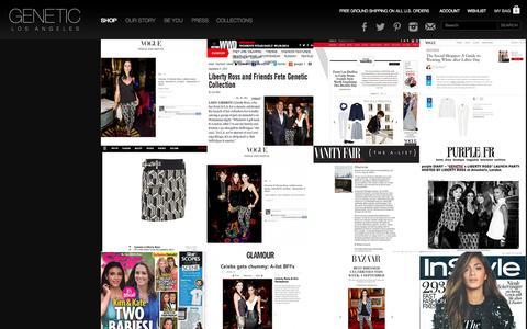 Screenshot of Press Page geneticlosangeles.com - Genetic Los Angeles   Press - Editorial - captured Sept. 19, 2014
