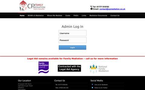 Screenshot of Login Page cpmediation.co.uk - CP | - captured July 10, 2016