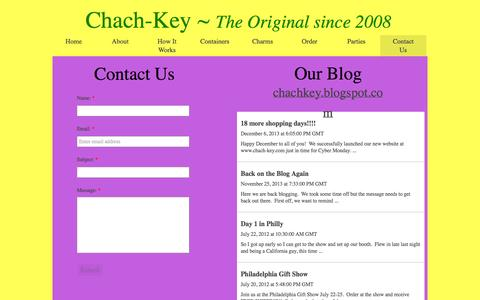 Screenshot of Contact Page chach-key.com - Contact Us - captured Sept. 29, 2014