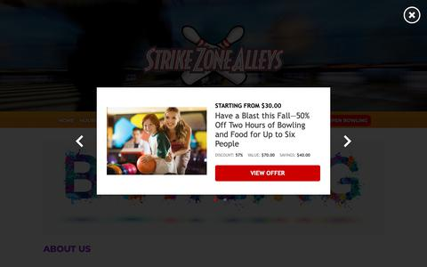 Screenshot of About Page strikezonealleys.com - About Us – Strike Zone Alleys - captured Oct. 21, 2018