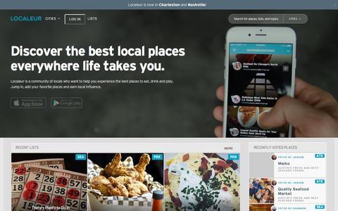 Screenshot of Home Page localeur.com - Localeur.com |  Experience Local Wherever You Go - captured Nov. 3, 2015