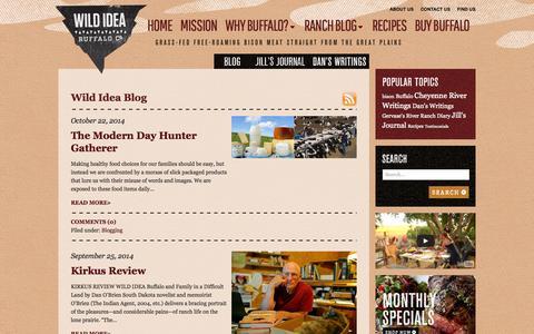 Screenshot of Blog wildideabuffalo.com - Blog   Wild Idea Buffalo - captured Oct. 26, 2014
