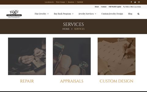 Screenshot of Services Page walterbauman.com - Services - captured Oct. 18, 2018