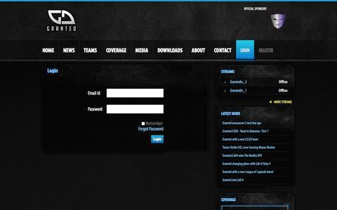 Screenshot of Login Page granted.nl - Login - Granted - captured Oct. 3, 2014