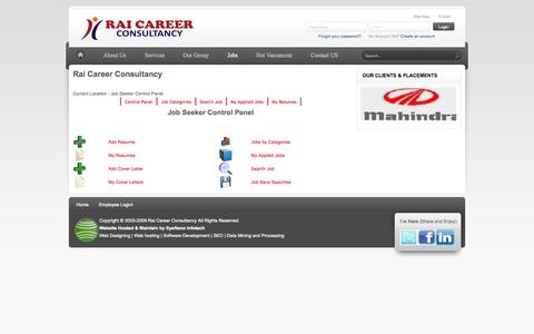 Screenshot of Jobs Page raicareer.com - Jobs - captured Sept. 19, 2014