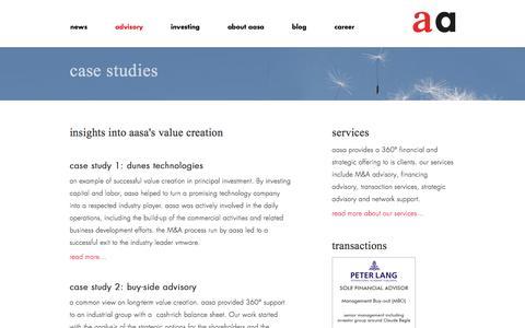 Screenshot of Case Studies Page aasa.com - aasa – case studies - captured Nov. 20, 2016