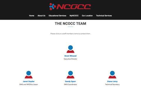 Screenshot of Team Page ncocc.net - The wonderful staff at NCOCC | NCOCC - captured June 18, 2016