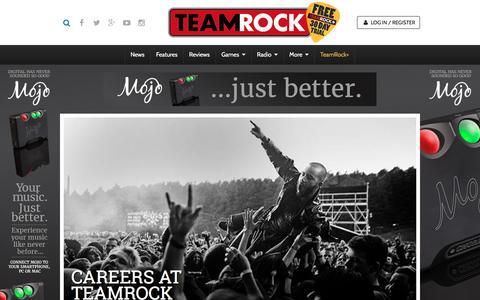 Screenshot of Jobs Page teamrock.com - TeamRock - captured Dec. 5, 2015