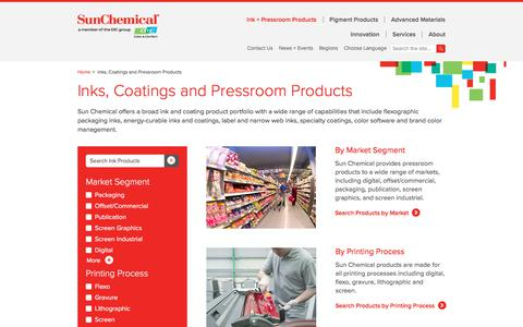 Inks, Coatings and Pressroom Products | Sun Chemical