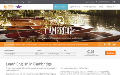 Learn English in Cambridge – ESL Cambridge English Schools