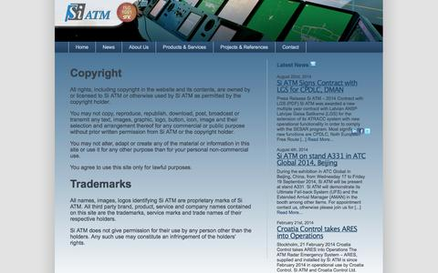 Screenshot of Terms Page siatm.com - Terms of Use | ATM and training systems from Si ATM - captured Oct. 26, 2014