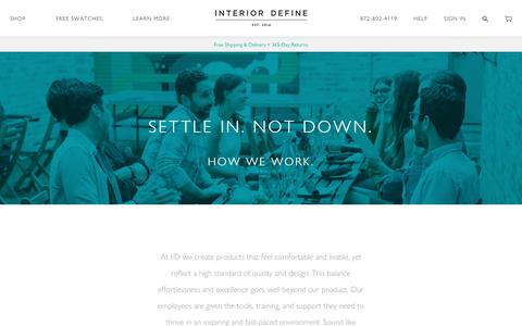 Screenshot of Jobs Page interiordefine.com - Interior Define Careers - Interior Define - captured May 22, 2017
