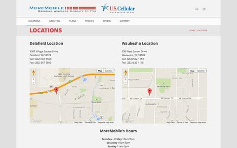 Screenshot of Locations Page moremobile.net - Locations | MoreMobile.net - captured Oct. 7, 2014