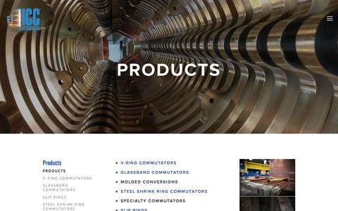 Screenshot of Products Page iccinternational.com - Products — ICC International - captured May 26, 2017