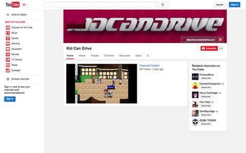 Screenshot of YouTube Page youtube.com - Kid Can Drive  - YouTube - captured Oct. 24, 2014