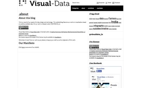 Screenshot of About Page visualdata.in - Visual-Data India » .about - captured Oct. 7, 2014