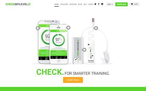 Screenshot of Home Page checkmylevel.com - Checkmylevel - For Smarter Training - captured March 27, 2017