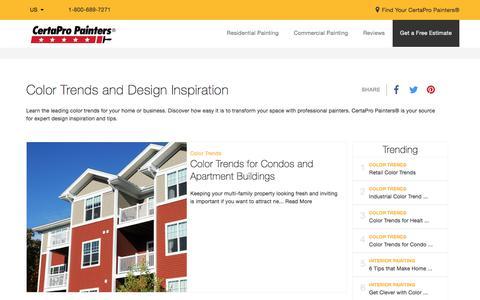 Screenshot of Blog certapro.com - Color Trends and Design Inspiration   CertaPro Painters® Blog - captured Aug. 16, 2017