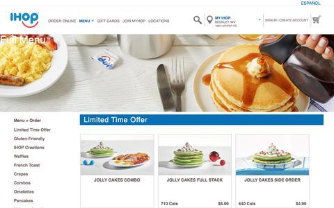 Screenshot of Menu Page ihop.com - Beverages  |  IHOP® - captured Dec. 3, 2019