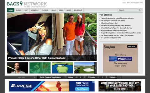 Screenshot of Home Page back9network.com - Back9Network | The Golf Lifestyle Network | Back9Network is the world's first digital and TV golf lifestyle network - captured June 19, 2015