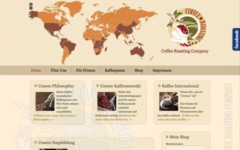 Screenshot of Home Page coffee-roasting-company.com - Home - Coffee Roasting Company - captured Sept. 28, 2018
