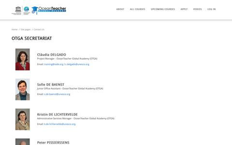 Screenshot of Contact Page oceanteacher.org - OTGA: Contact Us - captured Oct. 25, 2018