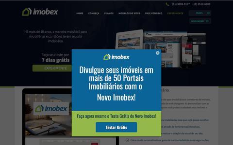 Screenshot of Home Page imobex.com.br - Sites para imobiliárias e sites para corretores de imóveis - Imobex - captured Dec. 10, 2018