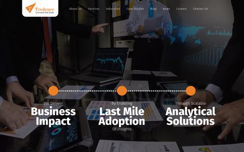 Screenshot of Home Page tredence.com - Tredence: An Analytics Services and Solutions Company - captured May 18, 2018