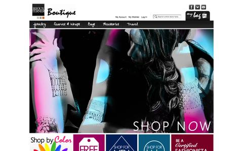 Screenshot of Home Page Site Map Page Locations Page bijouxterner.com - Bijoux Terner Online Boutique - captured Oct. 5, 2014