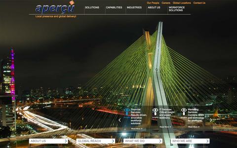 Screenshot of Home Page apercuglobal.com - Apercu Home Page | Apercu Global - captured Dec. 25, 2015