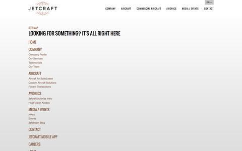 Screenshot of Site Map Page jetcraft.com - Site Map | Jetcraft - captured Jan. 9, 2016