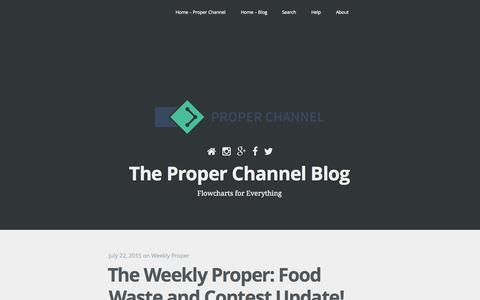 Screenshot of Blog properchannel.co - Proper Channel | Flowcharts Made Easy - captured July 24, 2015