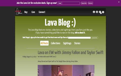 Screenshot of Blog lavalamp.com - Lava Lamp - The official site of Lava Lamp. Blog - captured Sept. 23, 2014