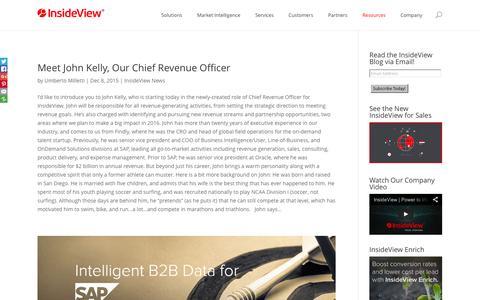 Market Intelligence | InsideView