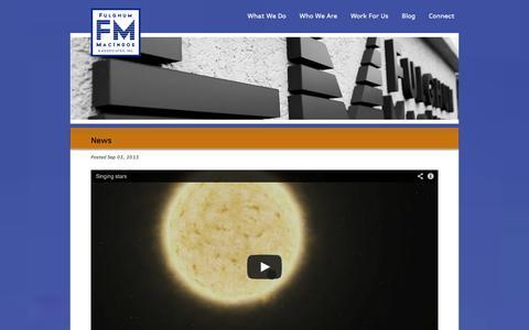 Screenshot of Press Page fulghummacindoe.com - News from Fulghum, MacIndoe, & Associates, Inc., Knoxville TN - captured Oct. 6, 2014