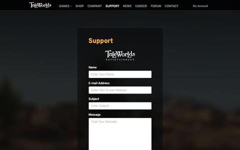 Screenshot of Support Page taleworlds.com - Support - TaleWorlds Entertainment - captured Nov. 28, 2019
