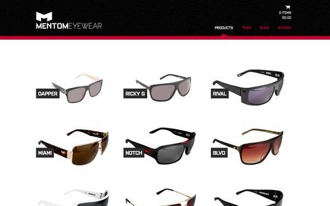 Screenshot of Products Page mentom.com - Products - mentom.com - captured Oct. 4, 2014