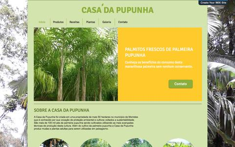 Screenshot of Home Page casadapupunha.com.br - Início - captured July 16, 2018
