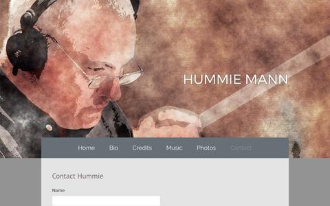 Screenshot of Contact Page hummiemann.com - Hummie Mann - Contact - captured Feb. 24, 2017