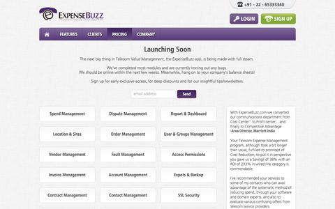Screenshot of Pricing Page expensebuzz.com - Cloud Based Telecom Expense Management|TEM SAAS|Free Trial - captured Oct. 3, 2014