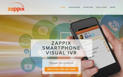 Screenshot of Home Page zappix.com - Zappix - captured Sept. 30, 2015